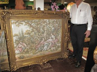 "Framed Tapestry Large, Framed Tapestry. Frame measures 51"" tall x 63"" wide. Condition is Very good. No damage. Starting Bid $200. Auction Estimate $250 - $500."
