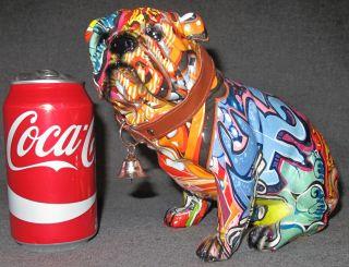 "STREET ART ENGLISH BULLDOG SCULPTURE Street Art English Bulldog, Resin Sculpture. Measures 6-3/4"" tall. Condition is Excellent. Mint. No damage."