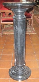 """TALL BLACK MARBLE PEDESTAL Tall Black Marble Pedestal. Measures 36"""" tall x 14"""" wide. Condition is good. No damage."""