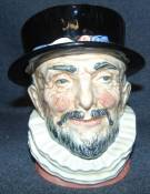 "Large Royal Doulton Toby Mug Beefeater Large Royal Doulton Toby Mug ""Beefeater"" #6206. Measures 6-1/2"" tall. Condition is very good. Excellent. No Damage. Starting Bid $40. Auction Estimate $50 - $80."