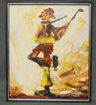 "Original Oil Painting by Morris Katz Original Oil Painting on Board by famous painter, Morris Katz (b. Poland 1932-2010). Artist signed and Dated 1978. Measures 25"" tall x 21"" wide. Condition is very good. No Damage. Starting Bid $100. Auction Estimate $150 - $250."