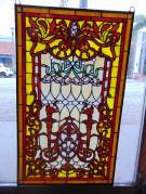 "Custom Stained Glass Hanging Panel Custom Made Stained Glass Hanging Panel. Excellent quality. Measures 35"" tall x 20-1/2"" wide. Condition is New. No Damage. High Quality Leaded Stained Glass with Vibrant Colors. Several Shipping Options Available. Starting Bid $80. Auction Estimate $100 - $120."