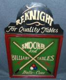 "Wooden Pool Hall Advertisement Sign Wooden Pool Hall Advertisement Sign. Measures 23-1/2"" tall x 16"" wide. Condition is New, Mint. No Damage. Starting Bid $30. Auction Estimate $30 - $50."