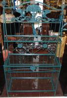 "Wrought Iron & Glass Bakers Rack Wrought Iron & Glass Bakers Rack. Measures 72"" tall x 41"" wide x 17-1/2"" deep. 4 Glass shelves. Condition is Like New. Very good. No Damage. Several Shipping Options Available. Starting Bid $100. Auction Estimate $120 - $200."
